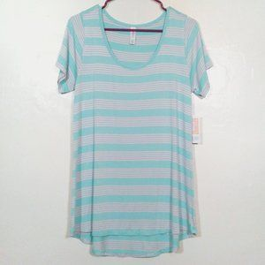 3/$25 SALE Lularoe Classic Tee Striped Tunic Top